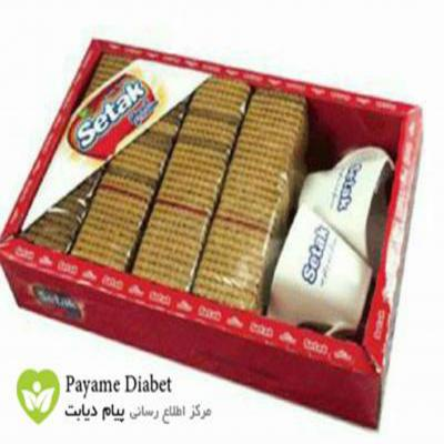 بیسکویت جو بدون قند ستاک | sugar free biscuit